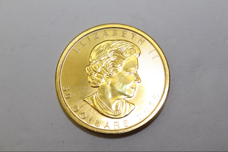 CANADA BULLION GOLD MAPLE CONTAINS 1 oz OF  9999 PURE GOLD